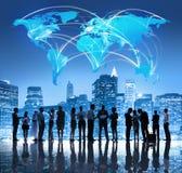 Lag för global affär fotografering för bildbyråer