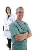 lag för kirurg för doktorskvinnlig male Royaltyfri Fotografi