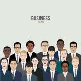 lag för megafon för man för affärskaffelady gruppera kontorsarbetare vektor illustrationer