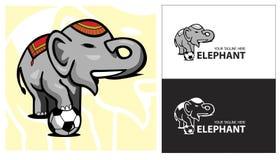 Lag för sport för elefantfotbollboll Stock Illustrationer