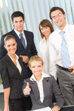 lag för stående för affärskontor Royaltyfria Bilder