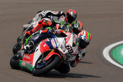 Lag för Superbike för värld för Nicky Hayden - USA Honda CBR1000RR SP Honda Royaltyfri Fotografi