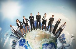 Lag för global affär Royaltyfri Fotografi