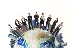 Lag för global affär Arkivfoton