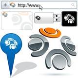 lag för logo för design för affär 3d Arkivfoto