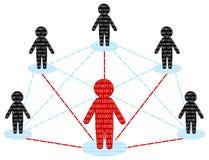lag för nätverk för begrepp för affärskommunikation Royaltyfri Bild