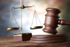 Lag och rättvisa Arkivfoto