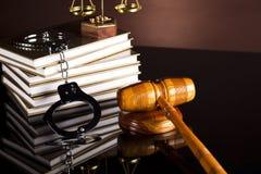 Lag- och rättvisabegrepp, laglig kod och våg Fotografering för Bildbyråer