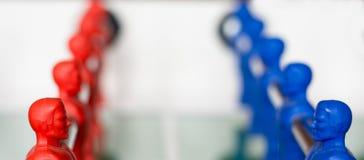 Lag på en tabellfotboll Royaltyfri Fotografi