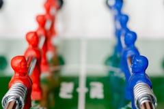 Lag på en tabellfotboll Royaltyfri Bild