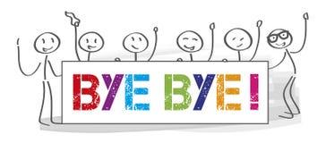 Lag som säger farvälet - illustration royaltyfri illustrationer