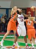 lag USA för silvia för basketfowlesspelare Royaltyfria Foton