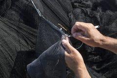 Laga fisknät Royaltyfria Bilder