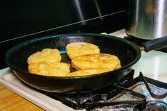 Laga mat djupt stekte köttpajer Royaltyfria Bilder