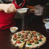 Laga mat för julbollar royaltyfri fotografi