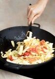 Laga mat gula bönor med grönsaker Arkivbild