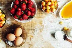 Laga mat kakan med nya ingredienser för att förbereda sig i matlagning ru Fotografering för Bildbyråer
