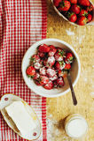 Laga mat kakan med nya ingredienser för att förbereda sig i matlagning ru Royaltyfri Foto