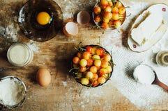 Laga mat kakan med nya ingredienser för att förbereda sig i matlagning ru Royaltyfri Fotografi