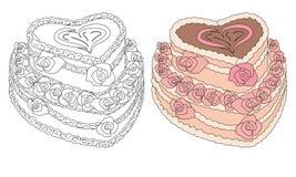 Laga mat med grädde caken vektor illustrationer