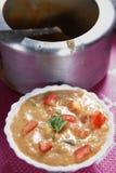 Laga mat med grädde med grönsaksidomaträtten, Paladai Sabji Royaltyfria Bilder