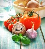 laga mat nya ingredienser Arkivfoto