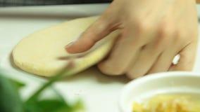 Laga mat pajrecept och framställning av en deg lager videofilmer