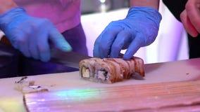 Laga mat rullar p? ett showparti i en nattklubb lager videofilmer