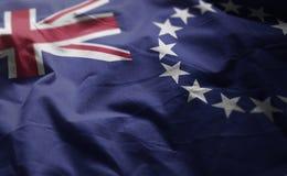Laga mat upp det Islands Flag Rumpled slutet royaltyfri fotografi