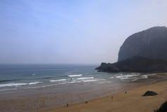 Laga plaża w Ibarrangelu, Vizcaya, Baskijski kraj, Hiszpania Obraz Royalty Free