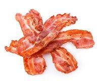 Lagad mat baconskinkskivanärbild på en vit bakgrund royaltyfria foton