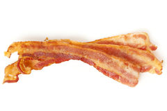 Lagad mat fetthaltig bacon Arkivfoto