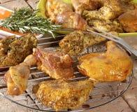 Lagad mat höna Fotografering för Bildbyråer