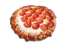 lagad mat isolerad pizzawhite Arkivfoton
