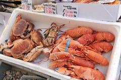 Lagad mat krabba och hummer Fotografering för Bildbyråer
