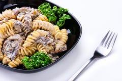 lagad mat pasta Arkivfoto