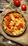 lagad mat pasta Fotografering för Bildbyråer