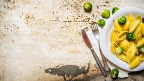 lagad mat pasta Royaltyfria Bilder