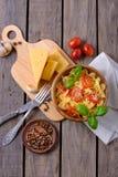 Lagad mat pasta för bästa sikt Arkivbild
