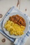 Lagad mat pasta för spagettisquash Royaltyfria Bilder