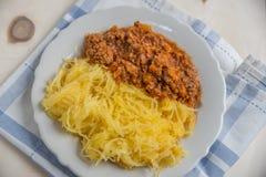 Lagad mat pasta för spagettisquash Royaltyfria Foton