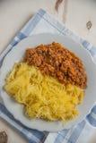Lagad mat pasta för spagettisquash Fotografering för Bildbyråer