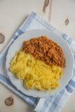 Lagad mat pasta för spagettisquash Royaltyfri Foto
