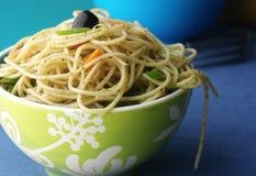 lagad mat spagetti Fotografering för Bildbyråer