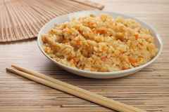 lagade mat bunkepinnar luftar smaklig rice Arkivbild