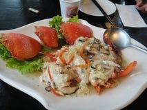 lagade mat krabbor Royaltyfri Bild