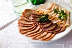 lagade mat meats Arkivbilder