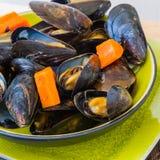 lagade mat musslor Arkivfoton