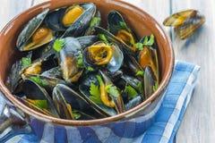 lagade mat musslor Royaltyfri Bild