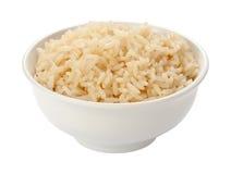 Lagade mat ris i en vit bunke Fotografering för Bildbyråer